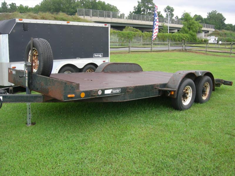 2003 Mack 18TFMSB Flatbed Trailer