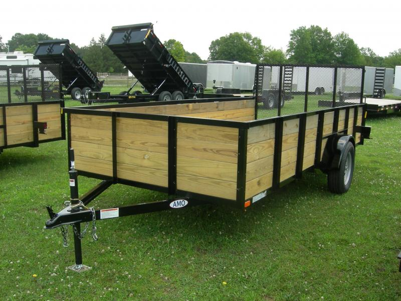 2019 American Manufacturing Operations (AMO) US76x12HS Utility Trailer