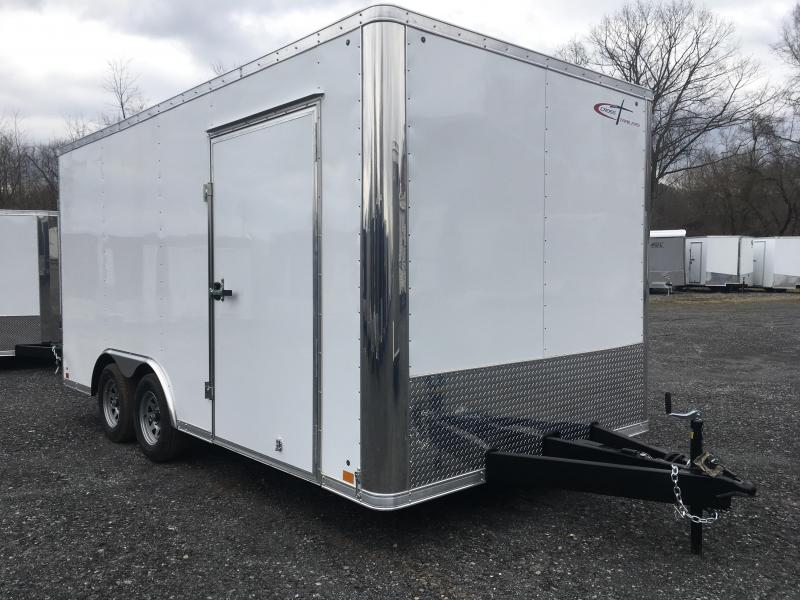 2019 Cross Trailers 816TA Cargo Trailer - Extra Height - White