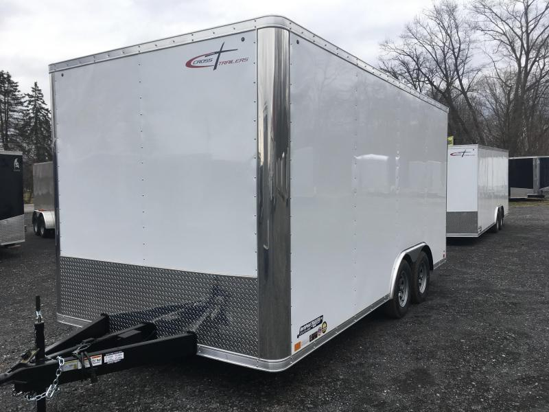 2019 Cross Trailers 816TA Cargo Trailer - Extra Height - White