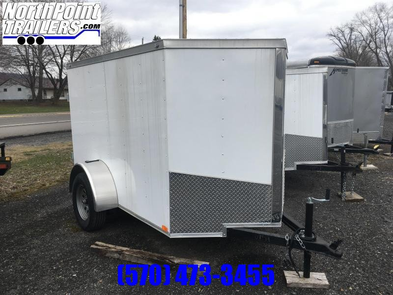 2018 Samson SP5X8SA Enclosed Cargo Trailer - Whitew