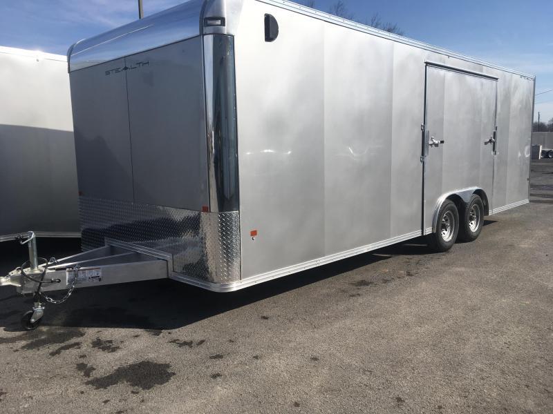 2019 CargoPro Trailers C8x24SCH Enclosed Car Trailer - ELITE ESCAPE DOOR - SILVER