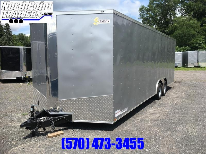 2018 Samson SP8.5x24 Enclosed Trailer -  SILVER FROST