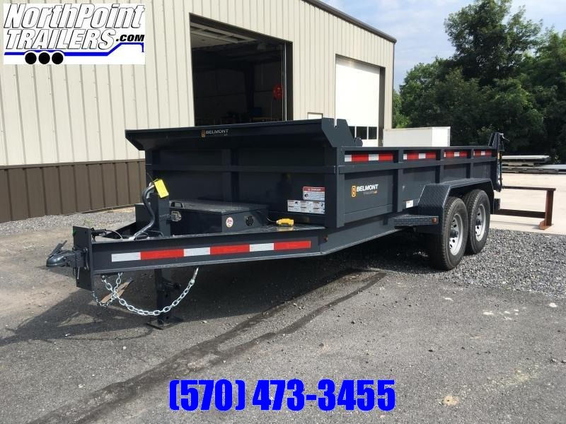 2019 Belmont Machine DT8114-14K Dump Trailer - Black