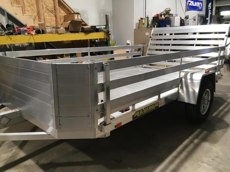 2018 Aluma 7712H Utility Trailer w/ 2' High Side Option
