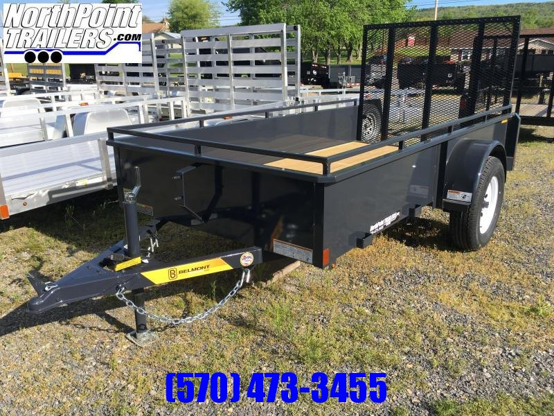 2018 Belmont Machine UT510SS Solid Side Utility Trailer **CHARCOAL**