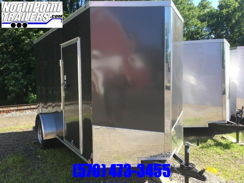 2019 Samson SP6x12SA Enclosed Trailer - BLACK - 7' Interior