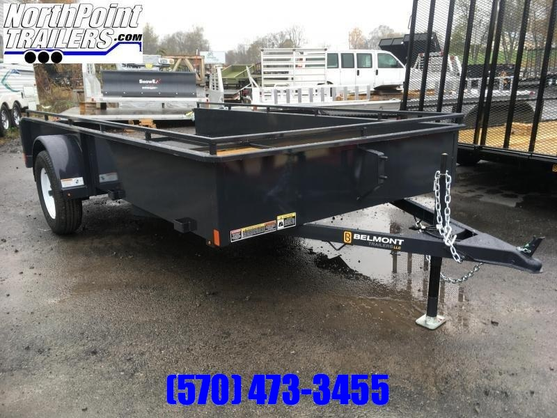 2019 Belmont Machine UT610SS Solid Side **BLACK** Utility Trailer