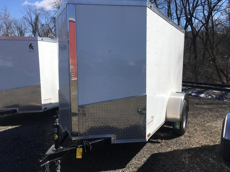 2019 Samson SP5X8SA Enclosed Cargo Trailer - White
