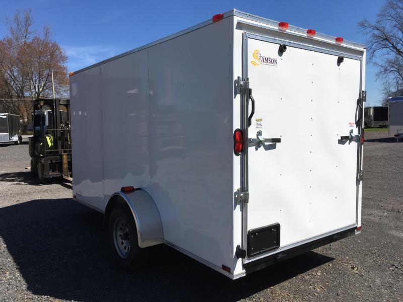 2018 Samson W6x12SA Enclosed Ramp Door - White