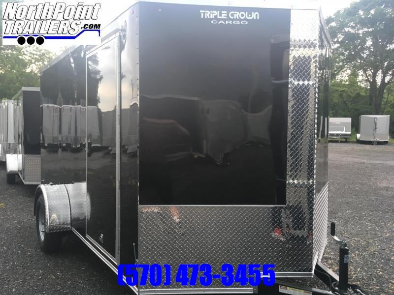 2019 Triple Crown Trailers 7X12SA Enclosed Trailer - Black