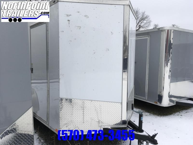 "2018 Samson SP6x10SA Enclosed Trailer - White - 6'6"" Interior"