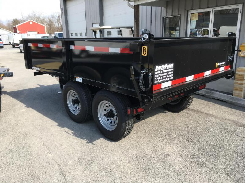 2018 Belmont Machine DT610DO-10K Deckover Dump Trailer - Curbside Fold Down