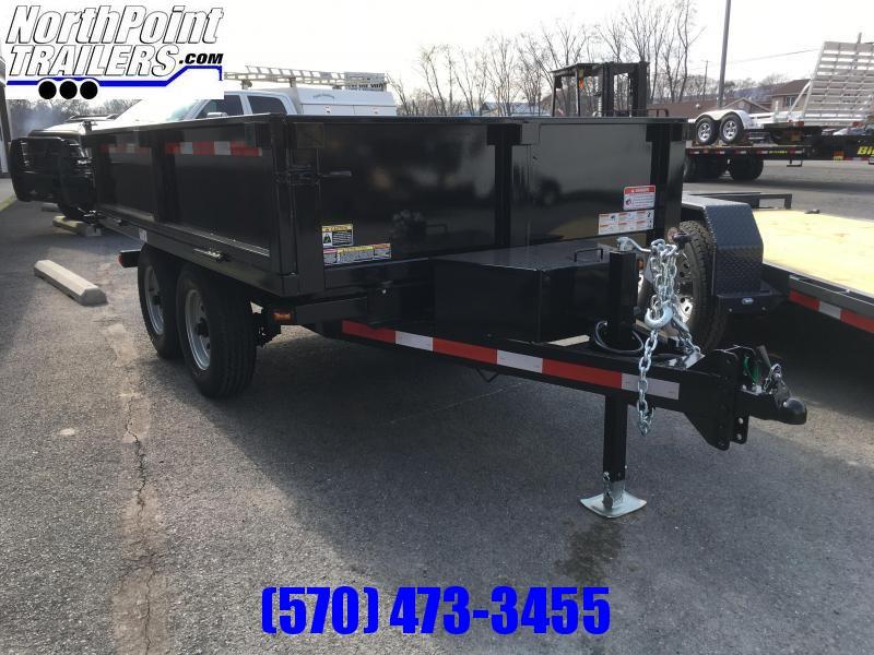 2019 Belmont Machine DT610DO-10K Deckover Dump Trailer - Fold Down Sides w/ Barn Doors - Black