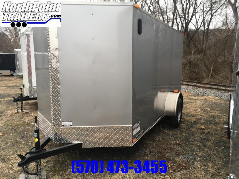 2018 Samson W6x12SA Enclosed Ramp Door - Silver Frost