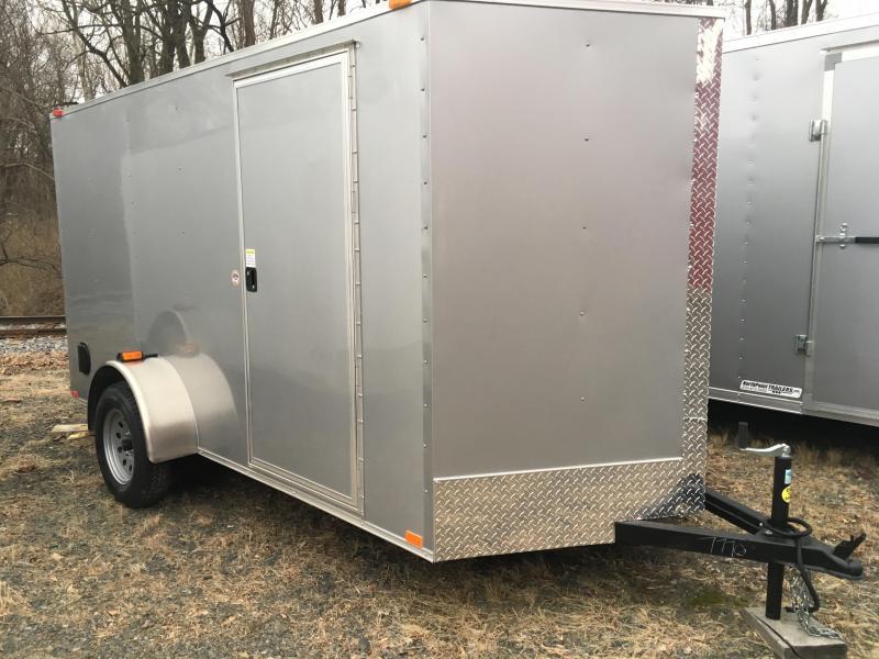 2018 Samson W6x12SA Enclosed Ramp Door - Silver Frost