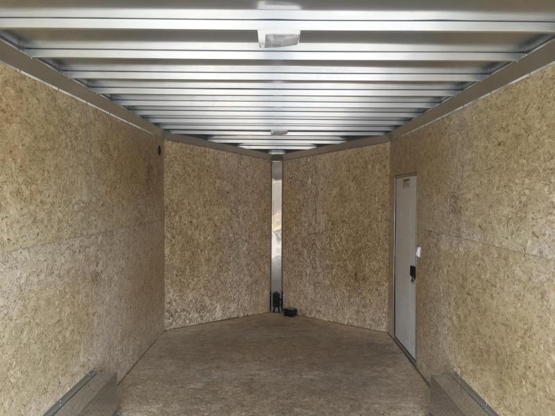 "2018 CargoPro Stealth Trailer C8x16S Cargo Trailer - Silver - 81"" Rear Door Opening"