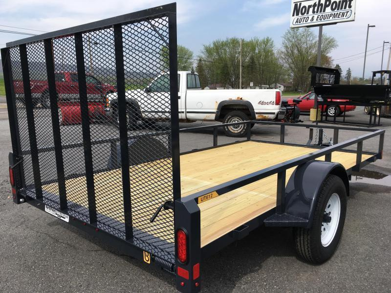 2019 Belmont Machine UT612TT **BLACK** Utility Trailer