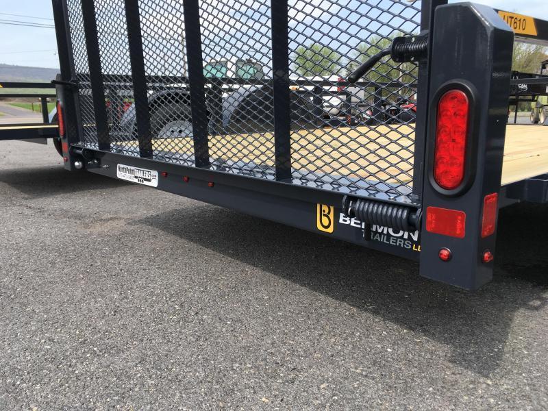 2018 Belmont Machine UT610TT Utility Trailer - Charcoal