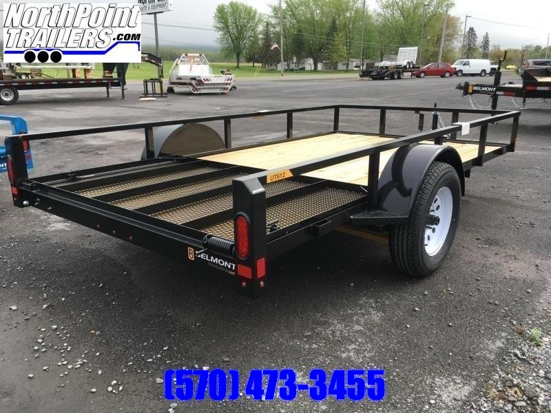 2020 Belmont Machine UT612TT **BLACK** Utility Trailer
