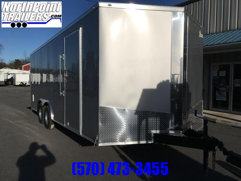 2018 Samson SP8.5x20 Enclosed Trailer - Silver Frost
