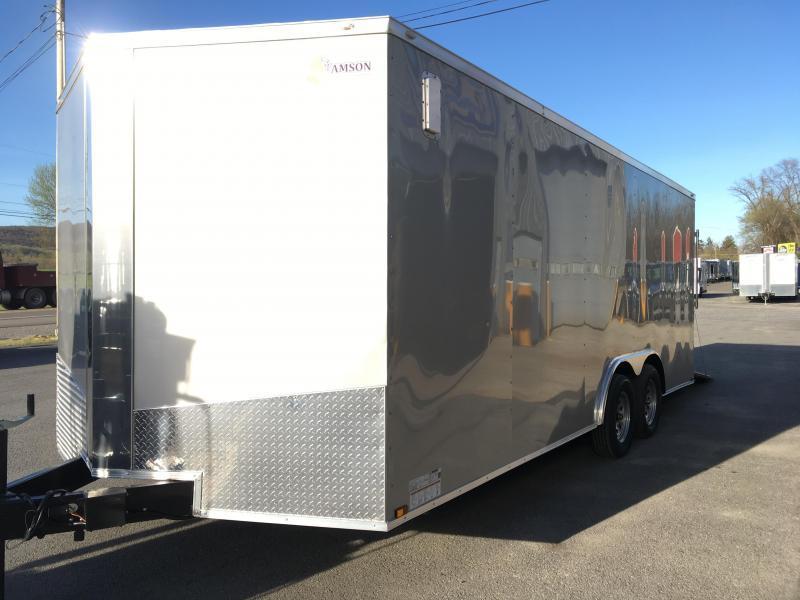 2018 Samson SP8.5x20 Enclosed Trailer - Silver Frost