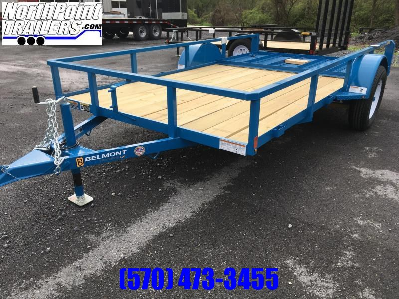 2018 Belmont Machine UT612TT **BLUE** Utility Trailer
