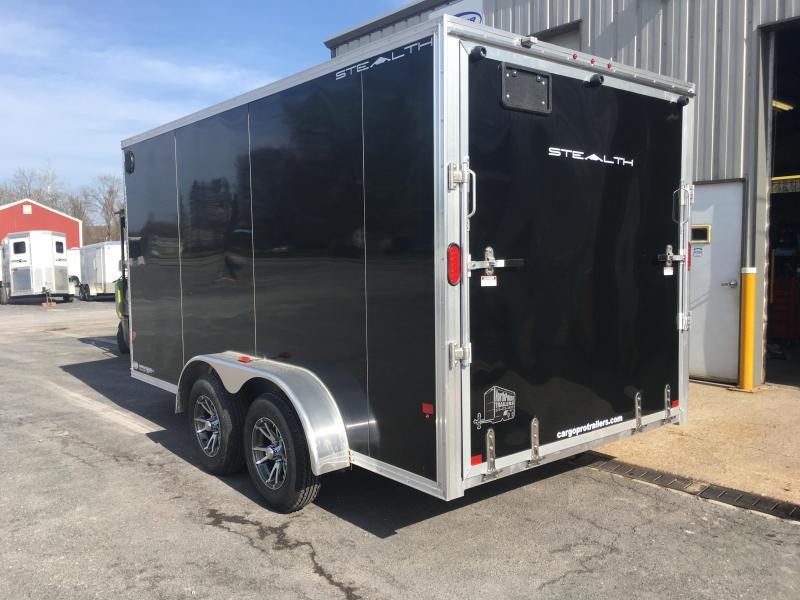 2018 CargoPro C7x14S-IF - Cargo Trailer - Black - Alum. Wheels