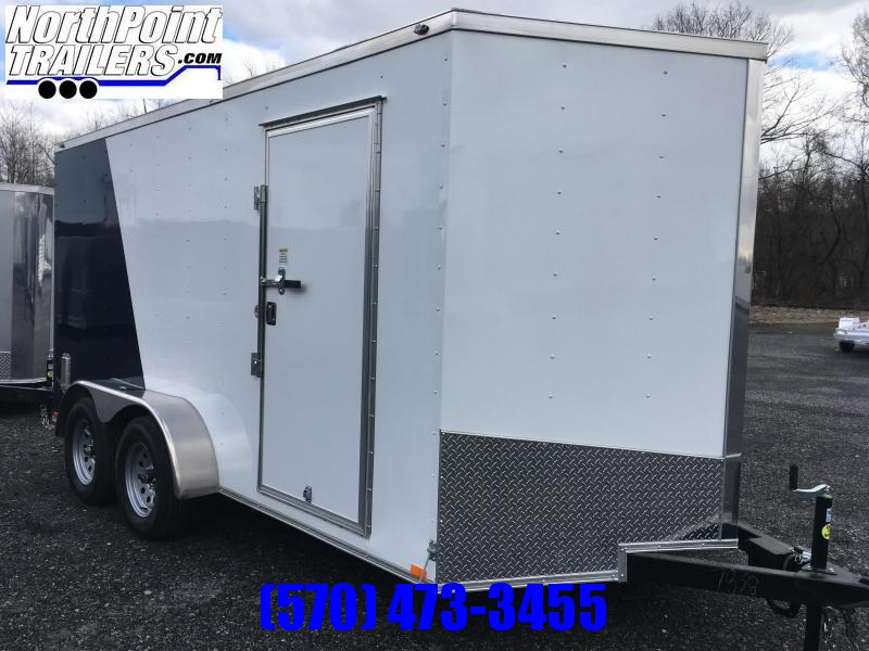 2018 Samson SP714TA Cargo Trailer - Two-Tone - White & Indigo Blue