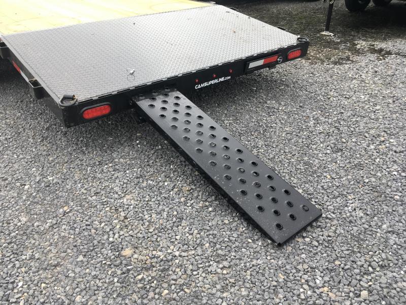 2019 Cam Superline 20' Car Hauler - 5CAM20CH - w/ locking toolbox and winch plate