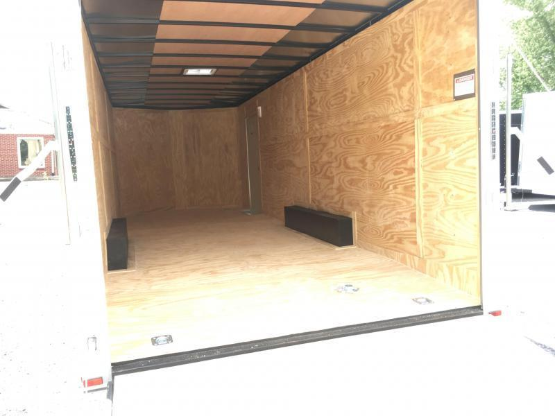 2018 Samson SP8.5x24 Enclosed Trailer -  White