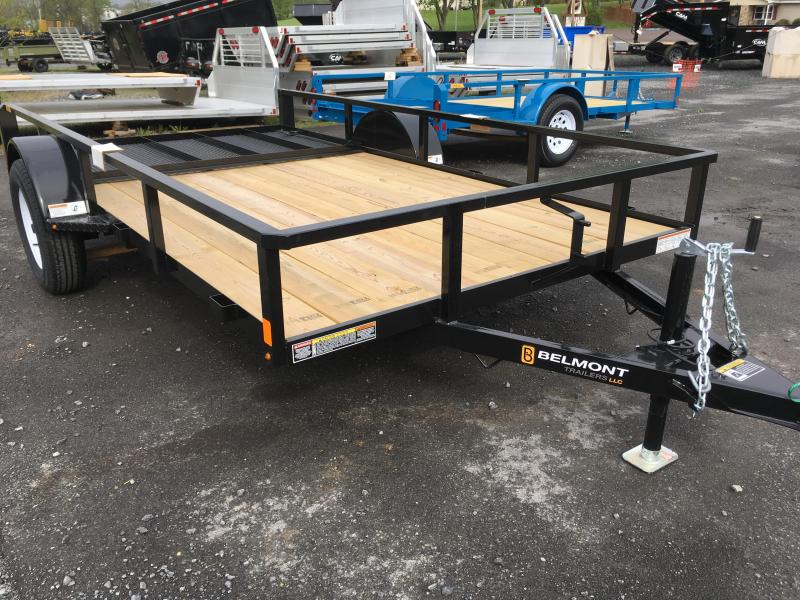 2018 Belmont Machine UT612TT **Black** Utility Trailer