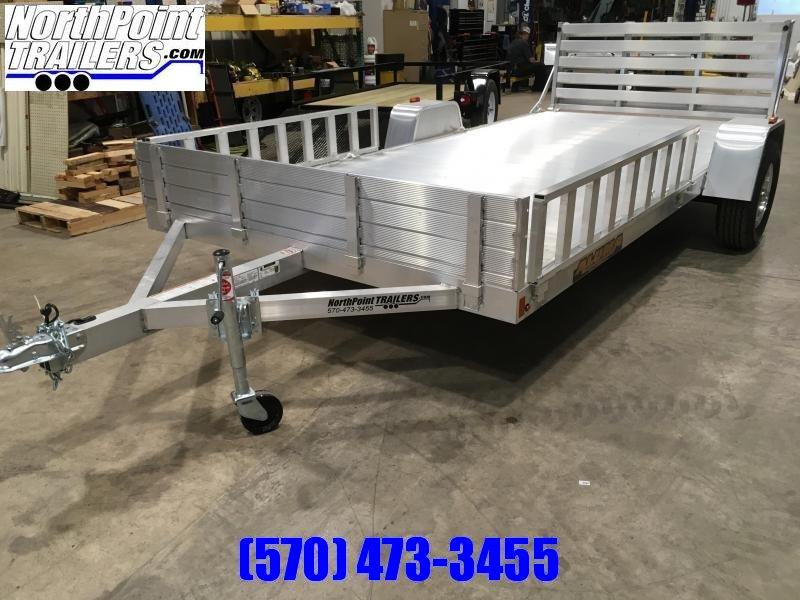 2020 Aluma 8114 BT Bi-Fold Tailgate Utility Trailer