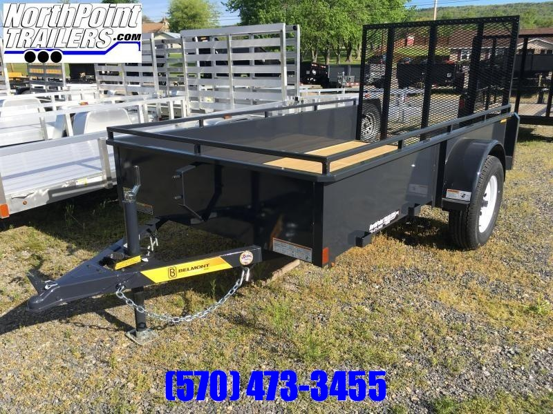 2019 Belmont Machine UT510SS Solid Side Utility Trailer **CHARCOAL**