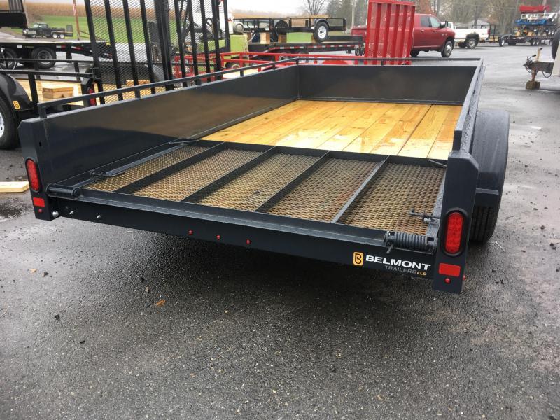 2018 Belmont Machine UT610SS Solid Side **BLACK** Utility Trailer