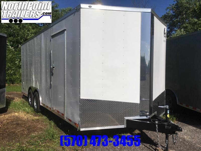 "2018 Samson SP8.5x20 Enclosed Trailer - 5.2K Axles- White - 84"" Door Opening"