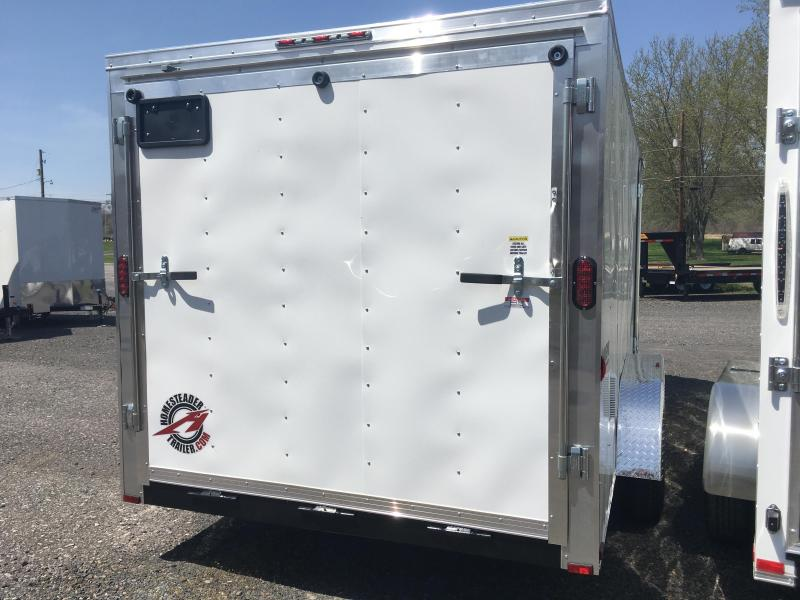 2018 Homesteader 716IT Cargo Trailer - White