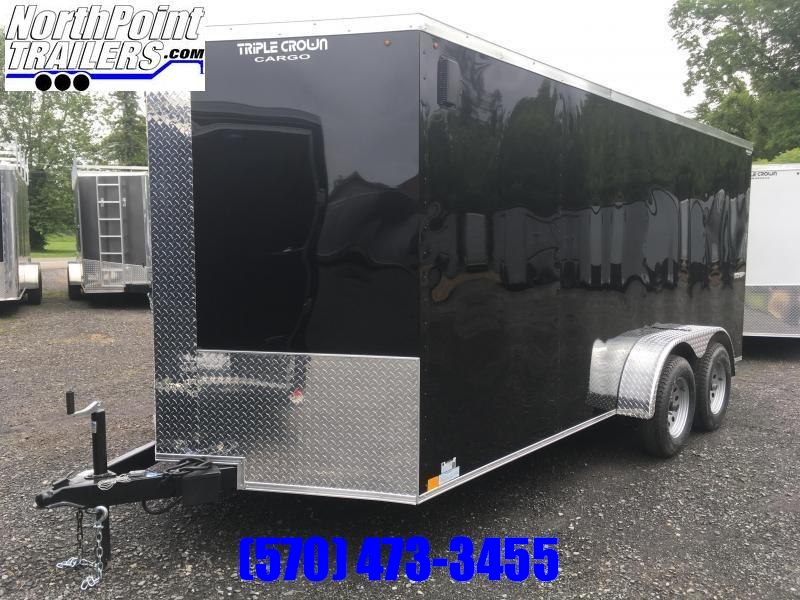 2019 Triple Crown Trailers 7X16SA Enclosed Trailer - White