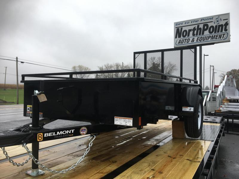2019 Belmont Machine UT510SS Solid Side Utility Trailer **BLACK**