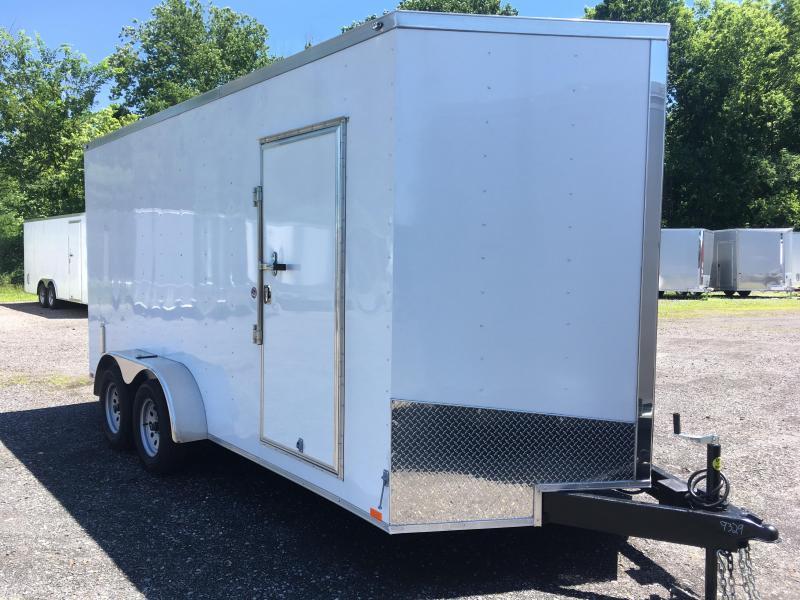 "2018 Samson SP716TA Cargo Trailer - 80"" Door Opening!!! White"