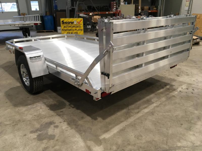 2019 Aluma 7712H BT - Bi-Fold Tailgate Utility Trailer