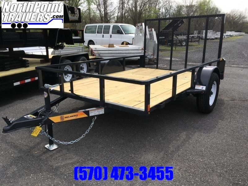 2019 Belmont Machine UT610TT Utility Trailer - Charcoal