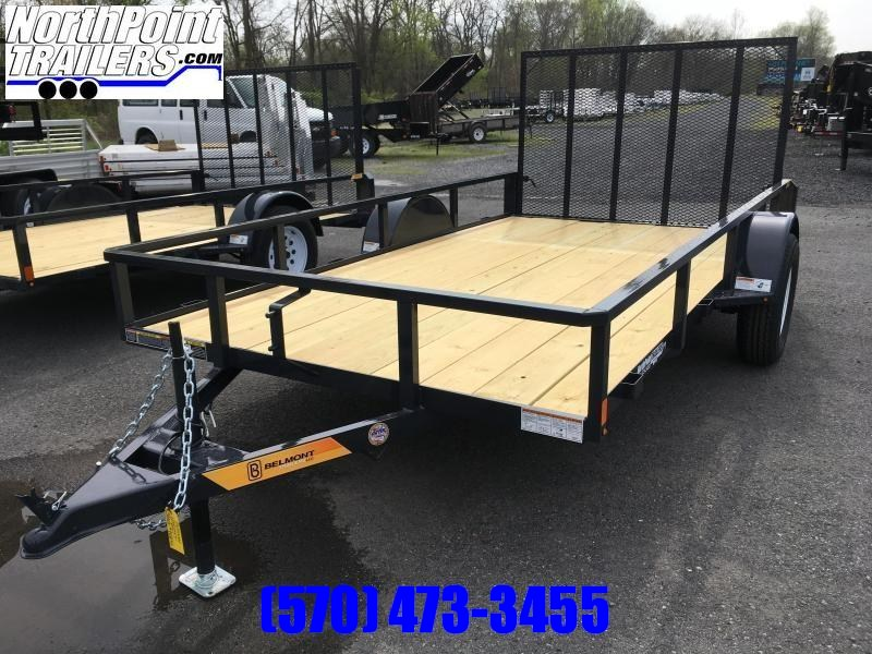 2018 Belmont Machine UT612TT **Charcoal** Utility Trailer