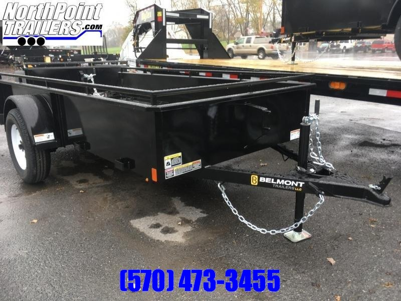 2019 Belmont Machine UT510SS Solid Side Utility Trailer **BLACK**