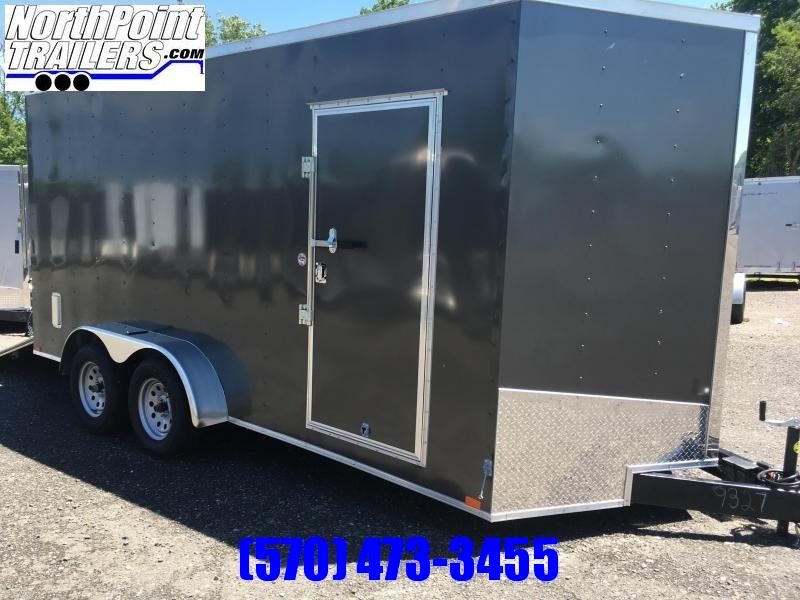 "2019 Samson SP716TA Cargo Trailer - 80"" Door Opening - Window & 5.2K Axle Upg. - CHARCOAL"