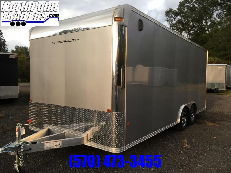 2018 CargoPro Trailers C8x24SCH Enclosed Car / Racing Trailer - Silver