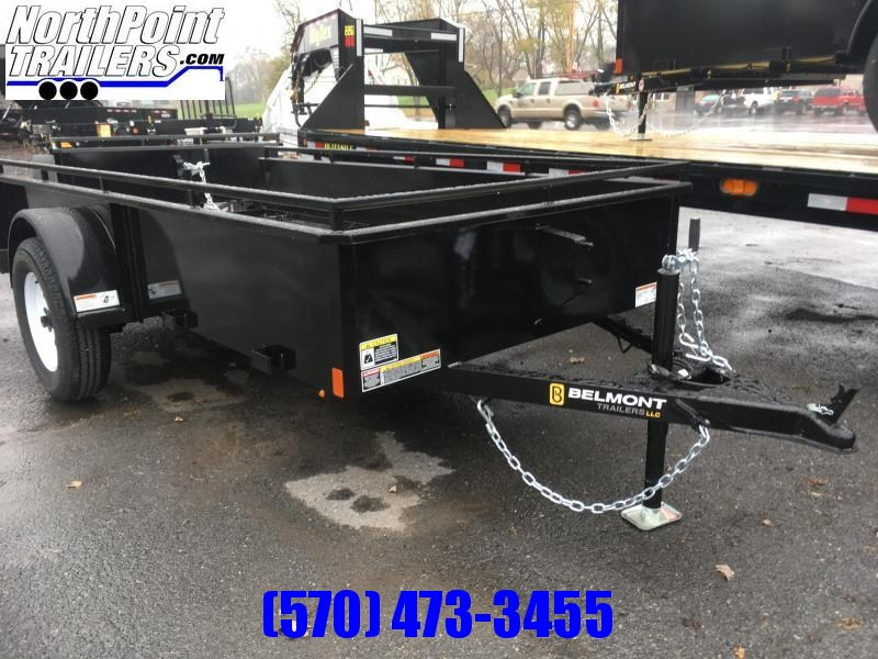 2018 Belmont Machine UT510SS Solid Side Utility Trailer **BLACK**