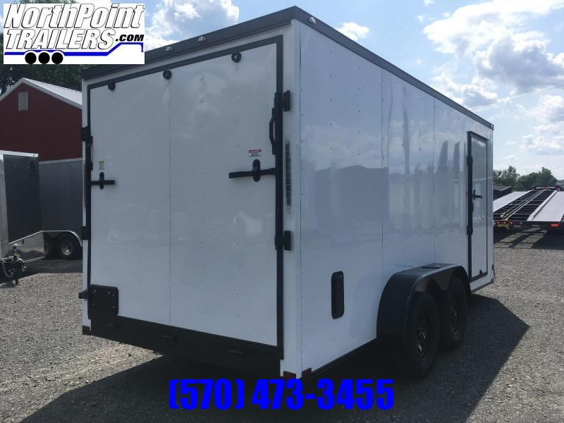 "2020 Spartan SP716TA Cargo Trailer - 6'6"" Interior - White w/ Blackout Pkg"