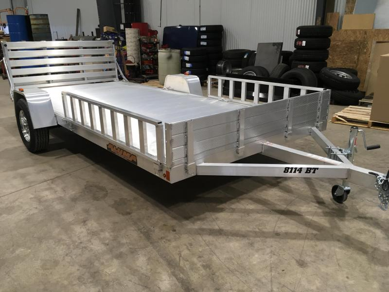 2019 Aluma 8114 BT Bi-Fold Tailgate Utility Trailer