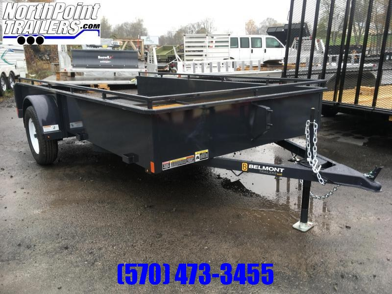 2019 Belmont Machine UT612SS Solid Side **CHARCOAL** Utility Trailer